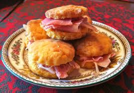 sweet potato ham biscuit
